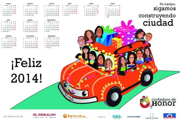 tarjetaNavidad Aliados2013 calendario